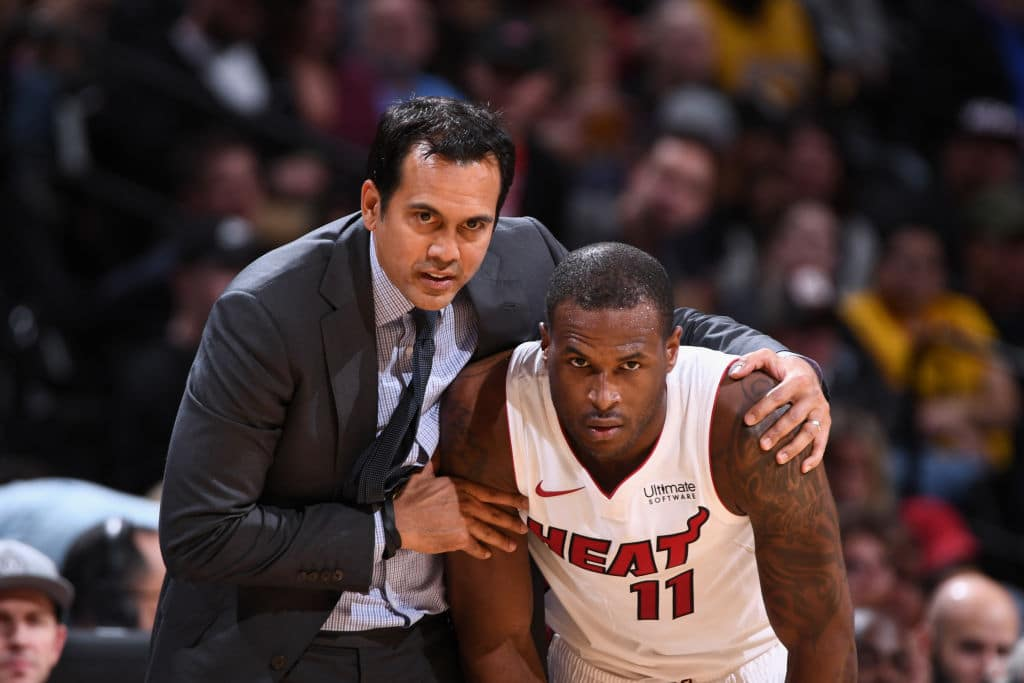 Erik Spoelstra and Dion Waiters
