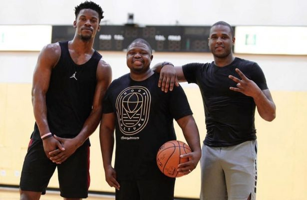 Jimmy Butler, Stanley Remy and Dion Waiters