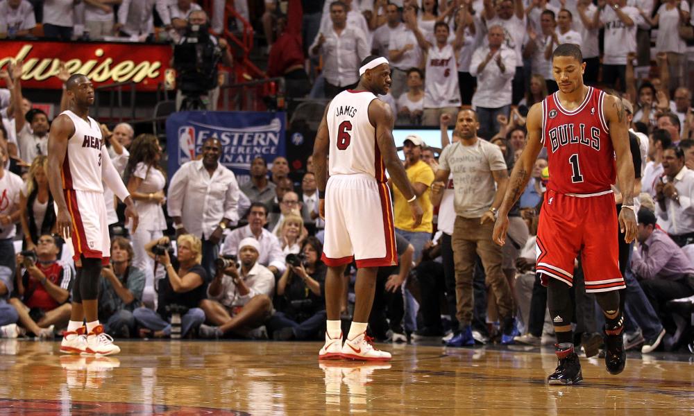 Derrick Rose Miami Heat LeBron James