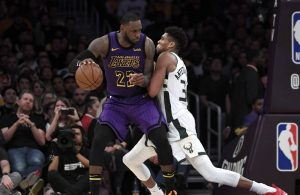 LeBron James and Giannis