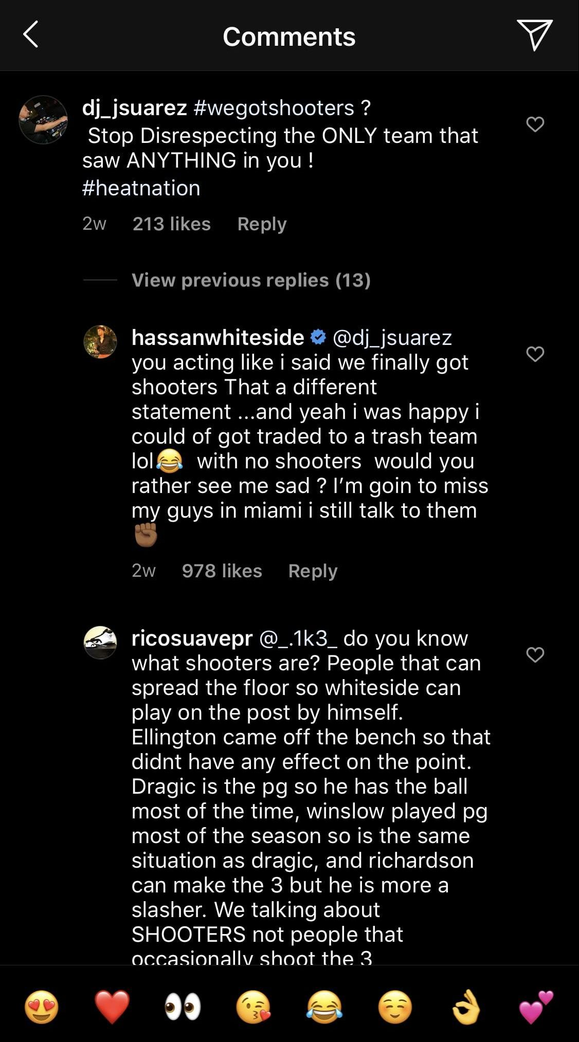 Hassan Whiteside Instagram