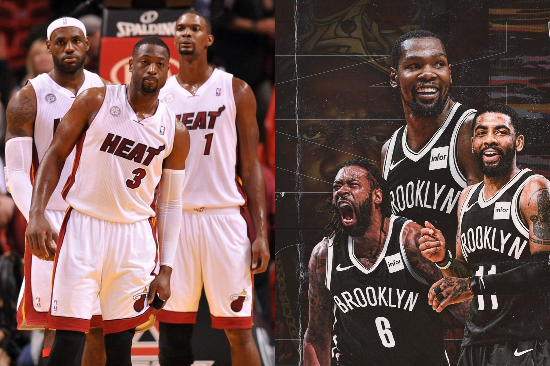 Miami Heat Big 3 Inspired Kyrie Irving Kevin Durant And Deandre Jordan To Team Up Heat Nation