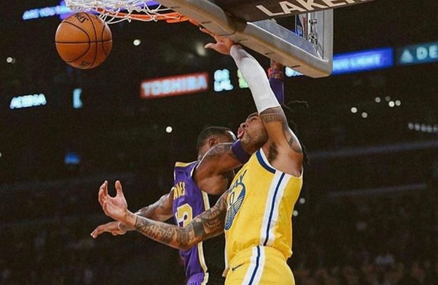 D'Angelo Russell and LeBron James