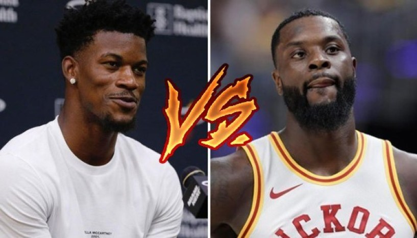 Jimmy Butler and Lance Stephenson