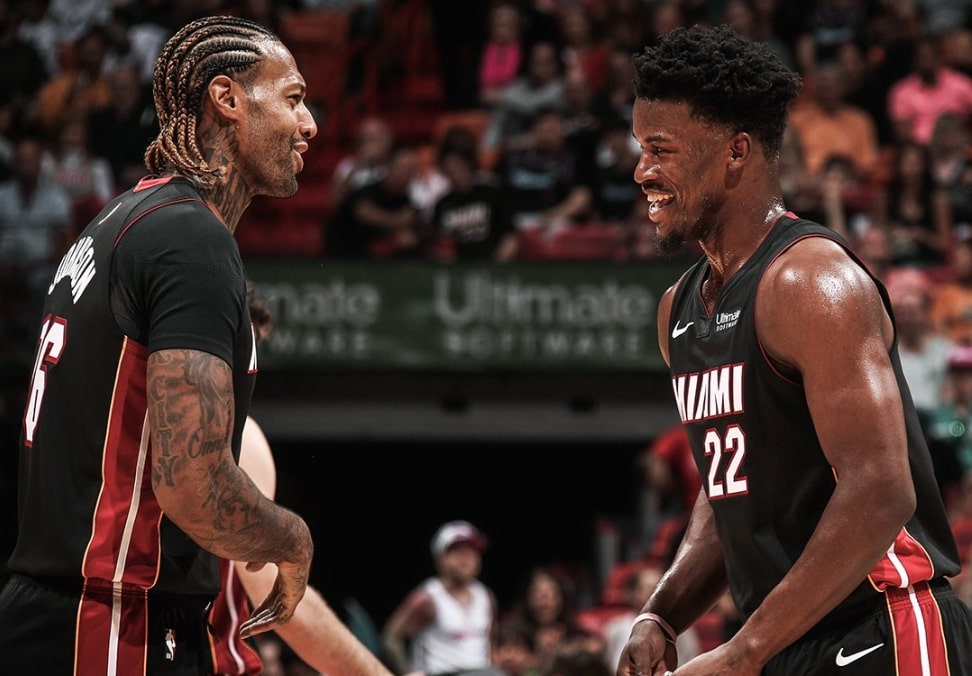 James Johnson and Jimmy Butler
