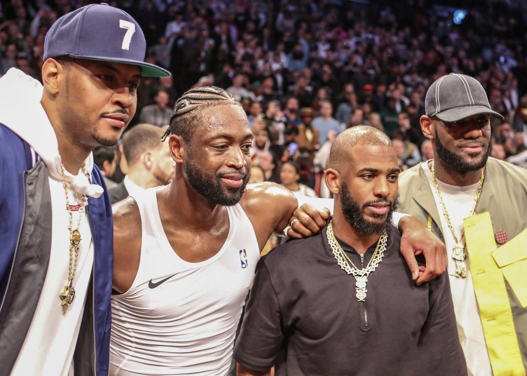 Carmelo Anthony, Dwyane Wade and Chris Paul