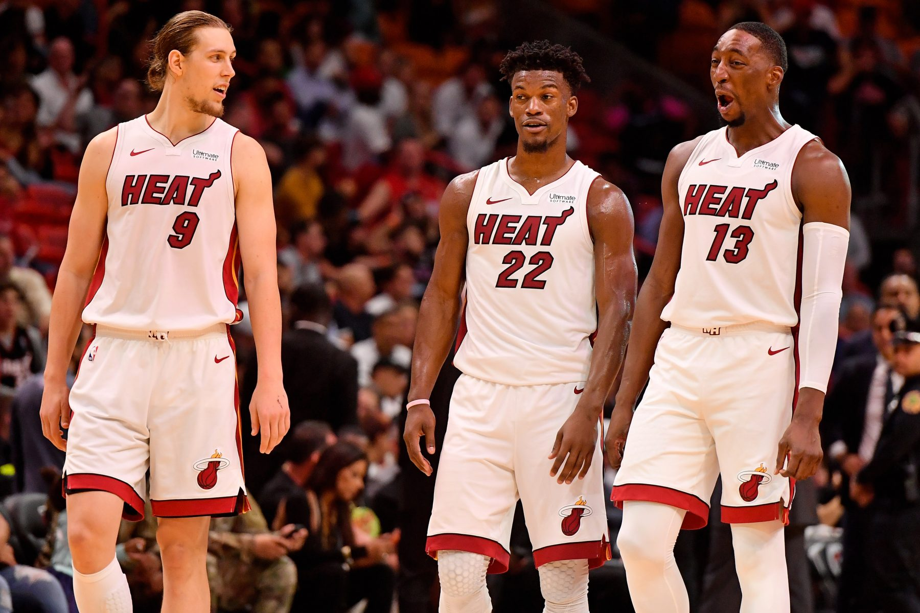 Kelly Olynyk, Jimmy Butler and Bam Adebayo