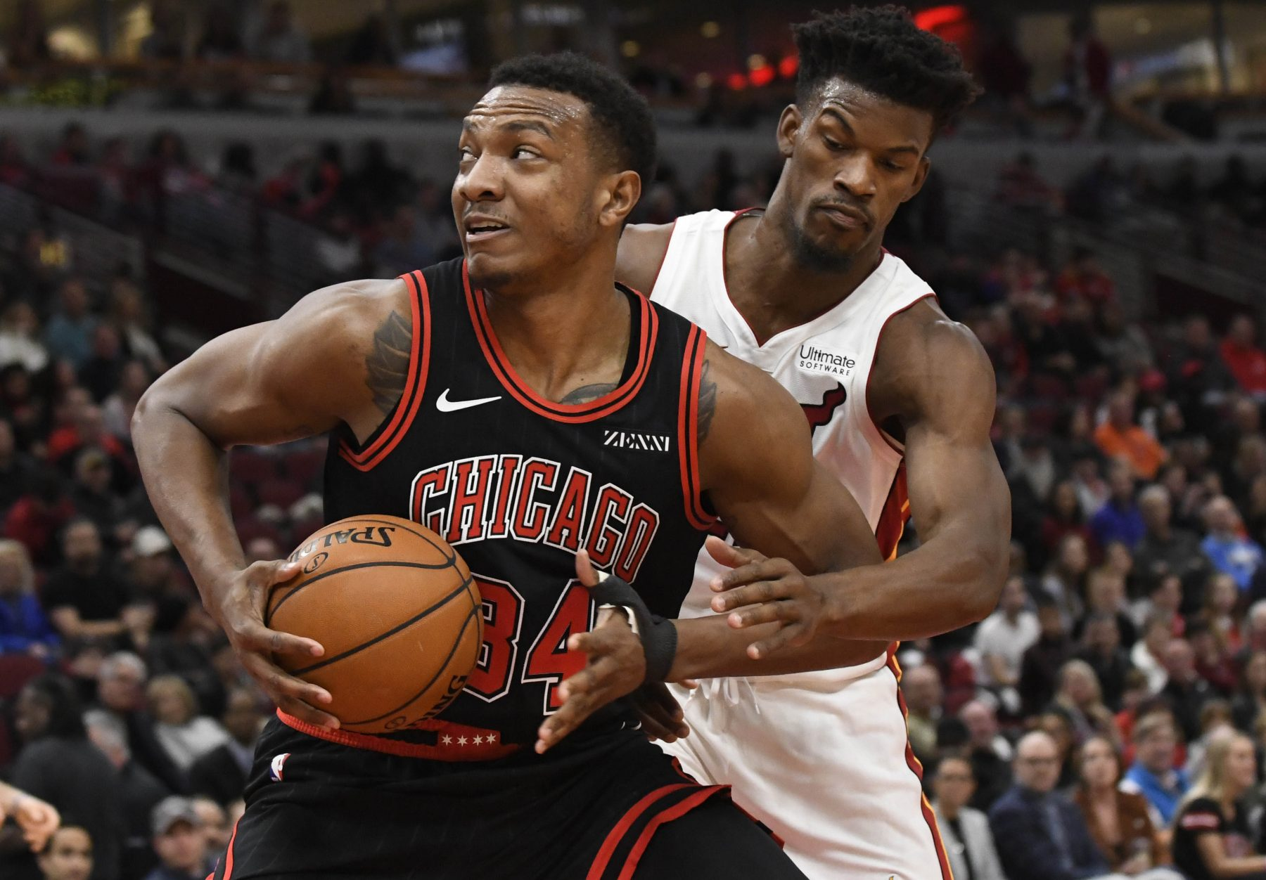 Jimmy Butler and Wendell Carter Jr.