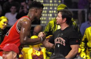 Jimmy Butler and Mark Wahlberg