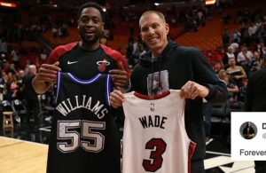 Dwyane Wade and Jason Williams