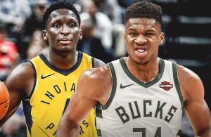 Victor Oladipo and Giannis Antetokounmpo