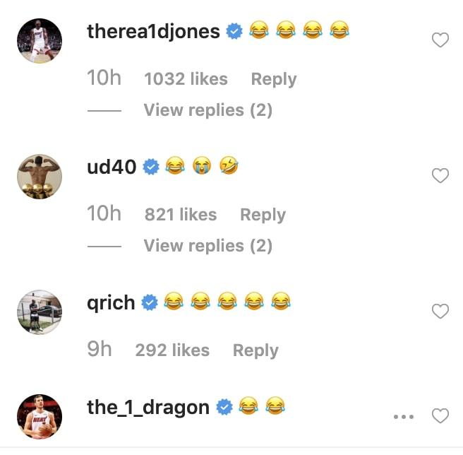 Derrick Jones Jr. and Udonis Haslem