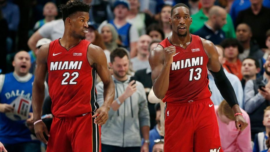 Jimmy Butler and Bam Adebayo Miami Heat