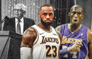 David Stern, LeBron James and Kobe Bryant