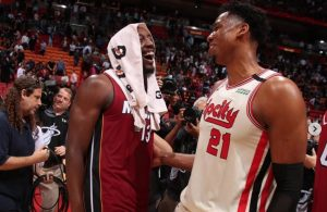 Bam Adebayo and Hassan Whiteside