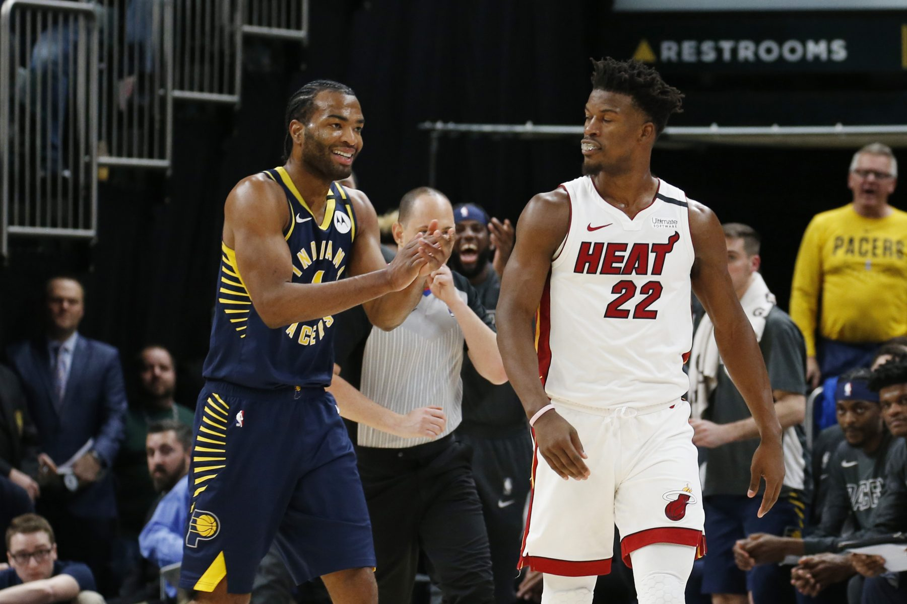 Heat's Jimmy Butler, Pacers' T.J. Warren fined for altercation