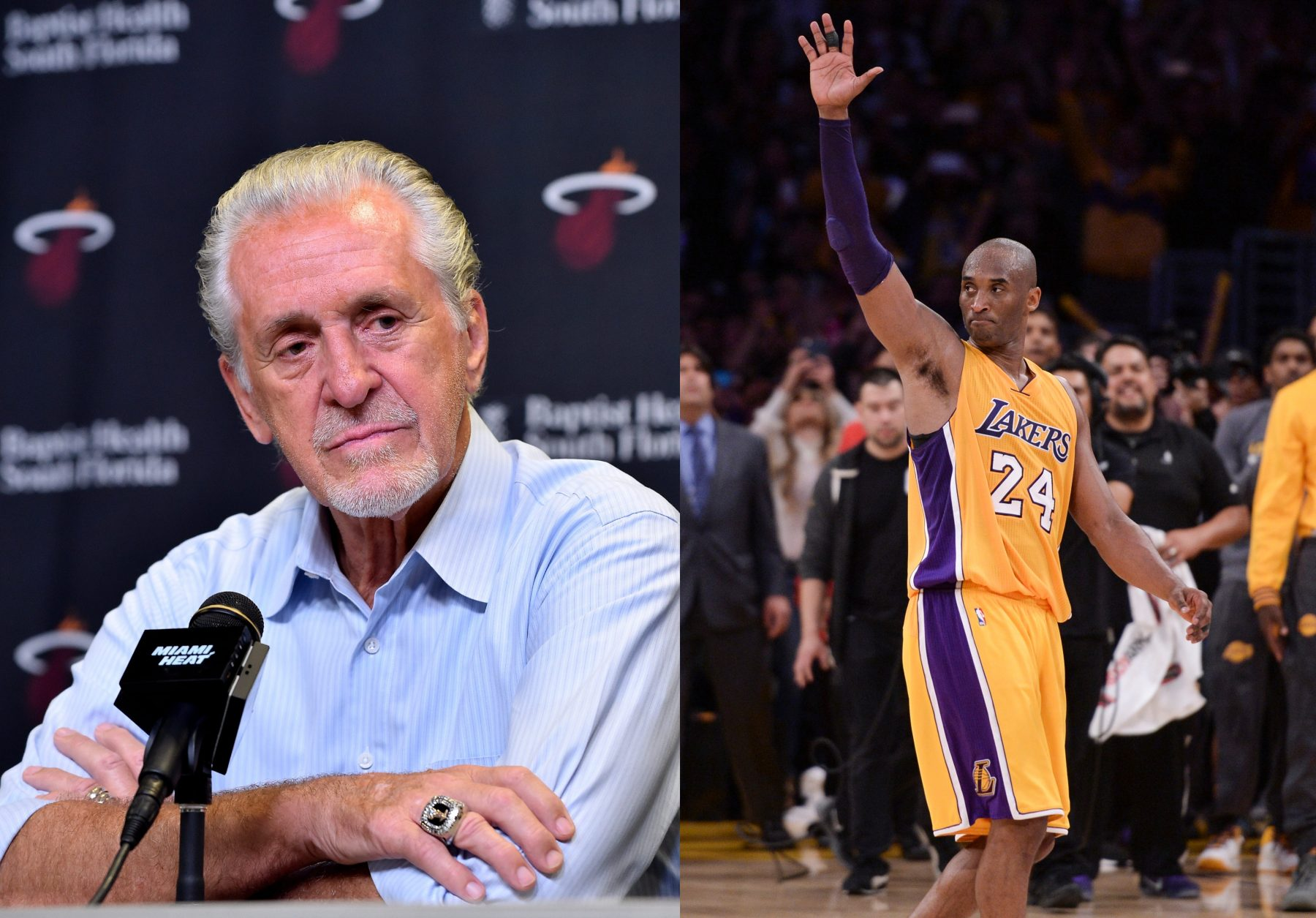 Pat Riley and Kobe Bryant