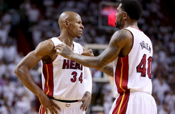 Ray Allen and Udonis Haslem