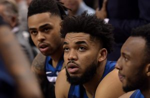 D'Angelo Russell and Karl-Anthony Towns