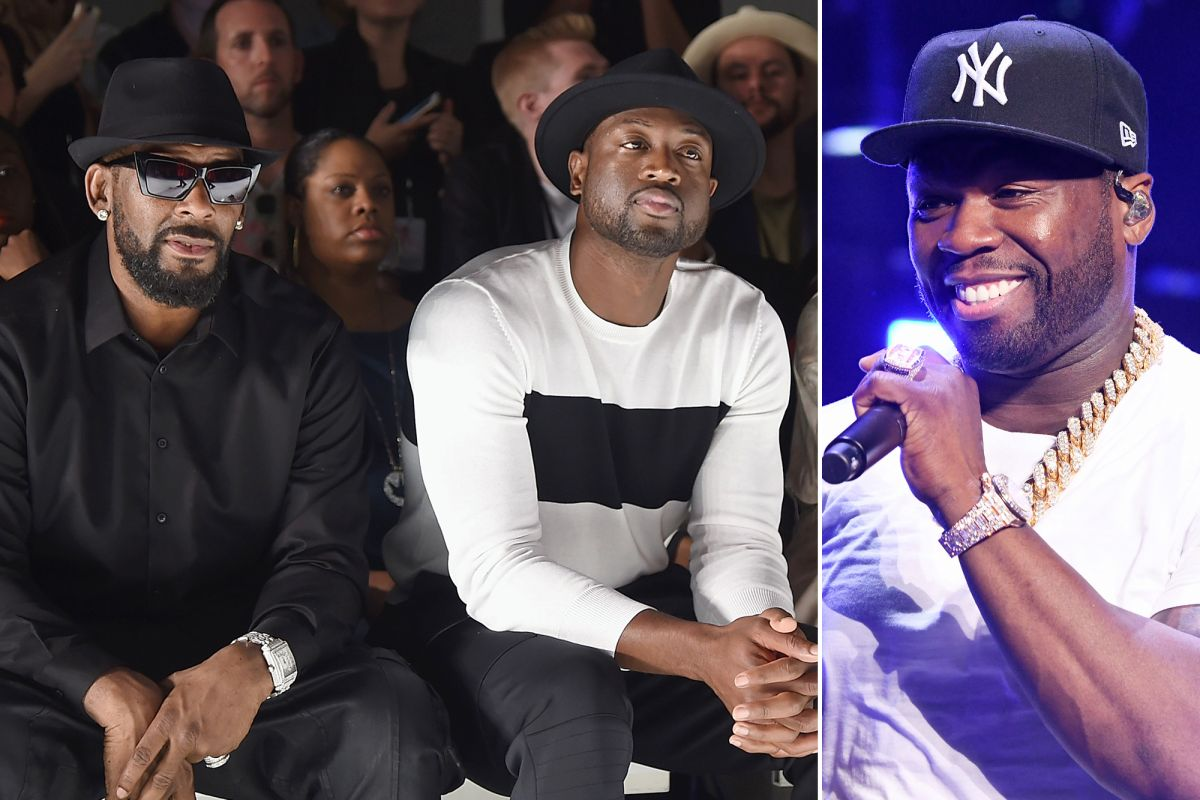 R. Kelly, Dwyane Wade and 50 Cent