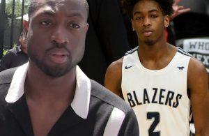 Dwyane Wade and Zaire Wade