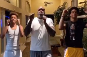 Shaquille O'Neal Family Dance-Off