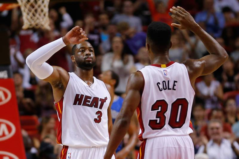 Dwyane Wade and Norris Cole