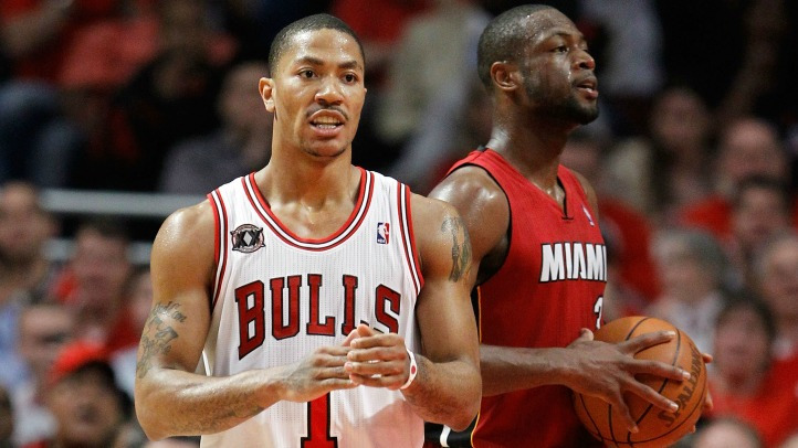 Derrick Rose and Dwayne Wade