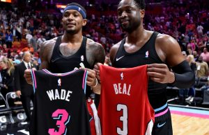 Bradley Beal and Dwyane Wade