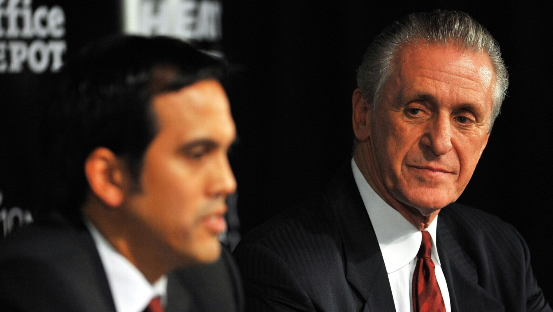 Erik Spoelstra and Pat Riley