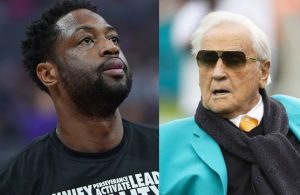 Dwyane Wade and Don Shula