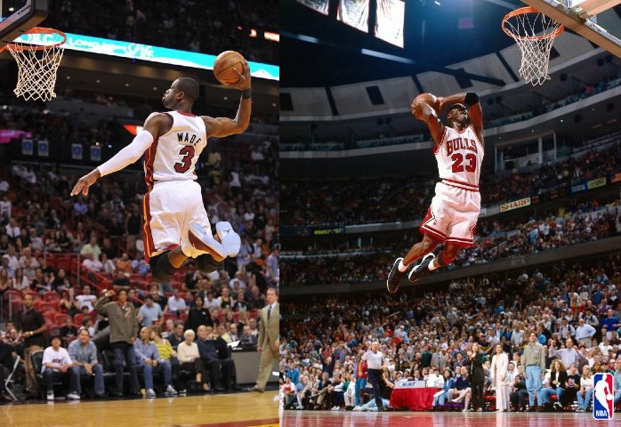 Dwyane Wade and Michael Jordan