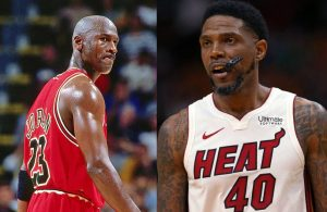 Michael Jordan and Udonis Haslem