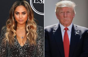 Ayesha Curry and Donald Trump