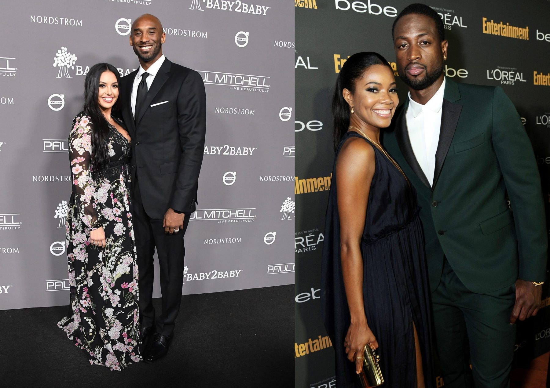 Vanessa Bryant, Dwyane Wade and Gabrielle Union