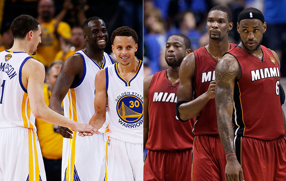 Warriors Big 3 and Miami Heat Big 3