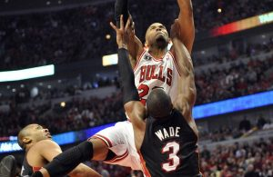 Taj Gibson and Dwyane Wade