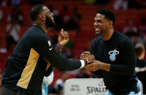 LeBron James and Udonis Haslem