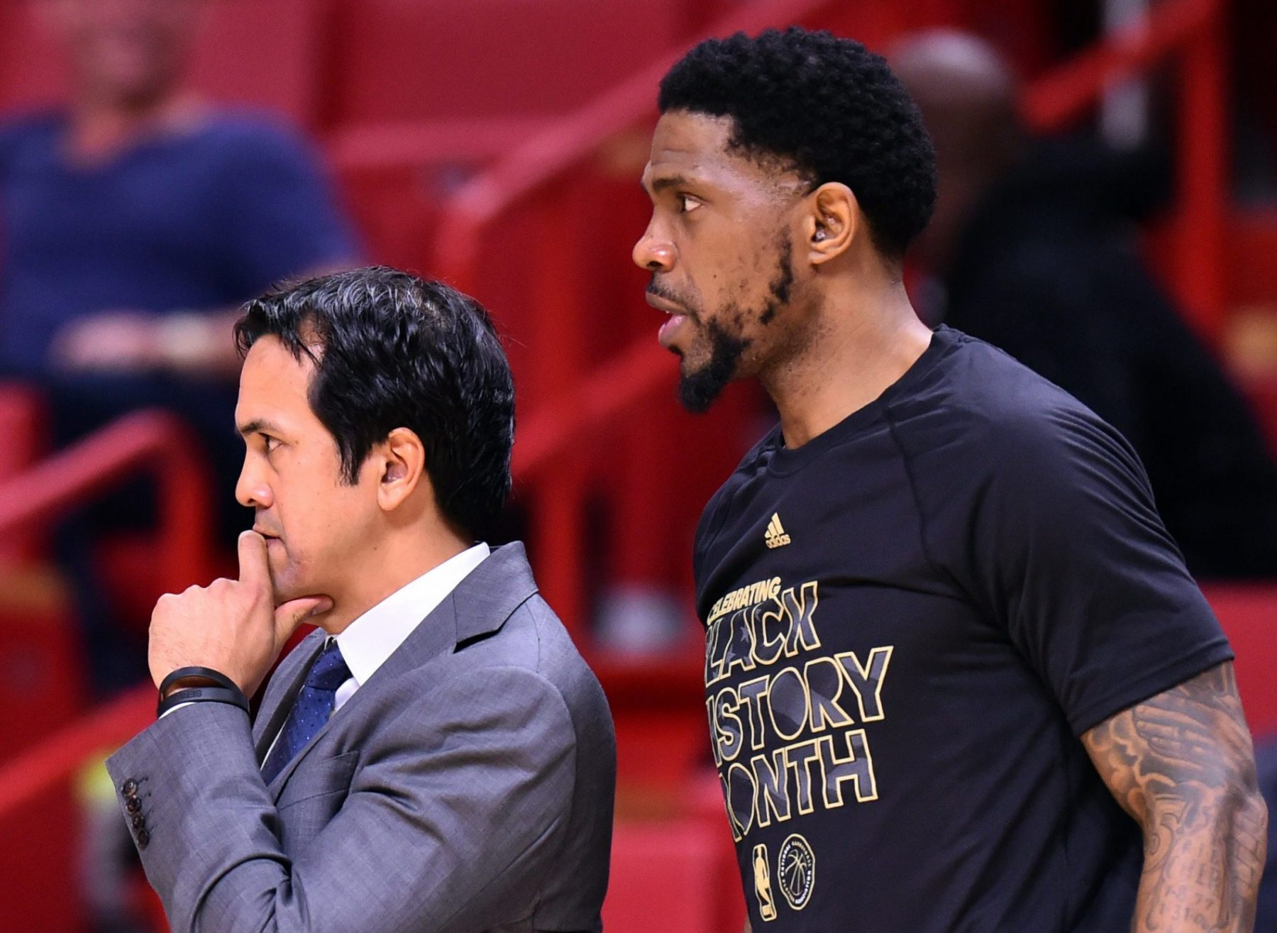 Erik Spoelstra Expresses Deep Respect For Udonis Haslem Calls Him Beacon Of Leadership Heat Nation