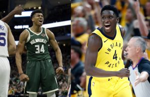 Giannis Antetokounmpo and Victor Oladipo