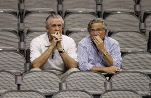 Pat Riley and Micky Arison