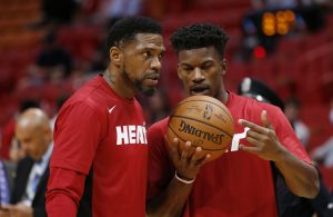 Udonis Haslem and Jimmy Butler