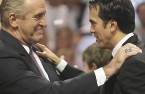 Pat Riley and Erik Spoelstra