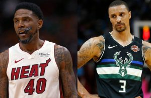 Udonis Haslem and George Hill