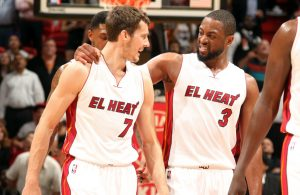 Goran Dragic and Dwyane Wade