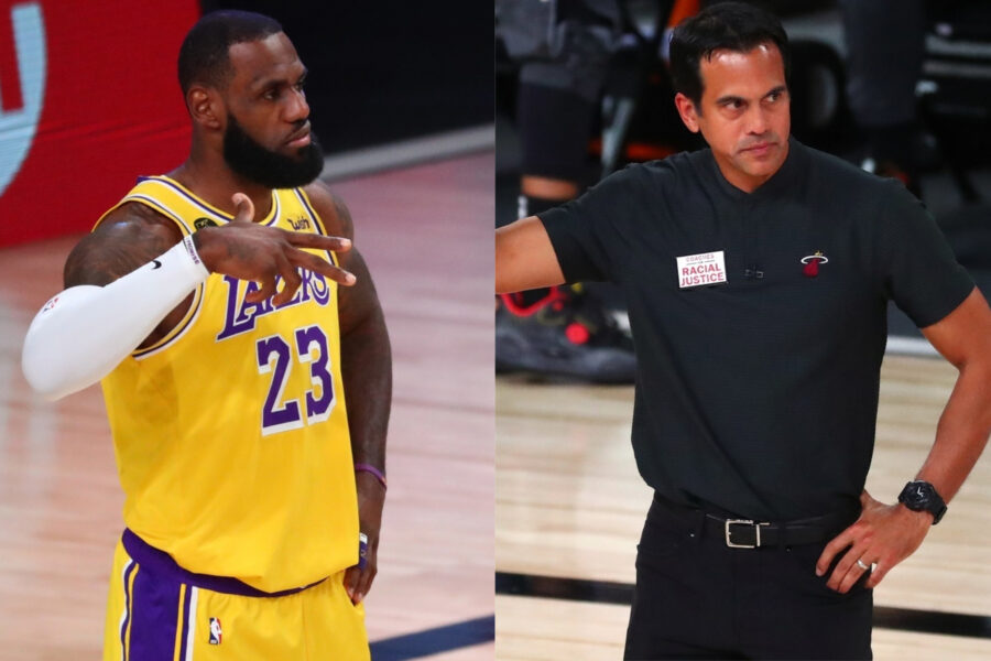 LeBron James and Erik Spoelstra