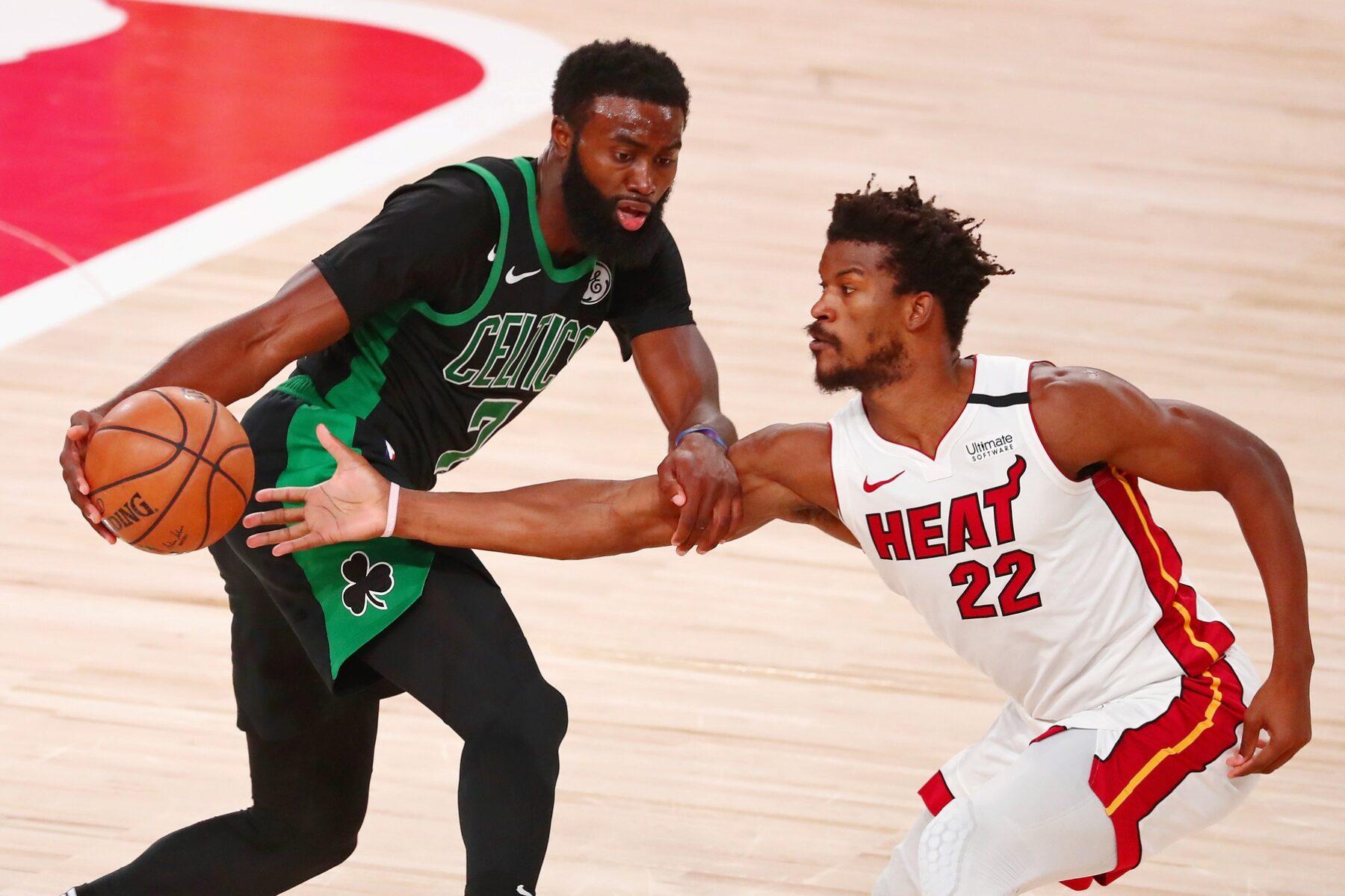 Miami Heat Superstar Jimmy Butler S Immediate Reaction To Going Up 2 0 On Boston Celtics Heat Nation