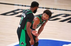 Jaylen Brown and Marcus Smart