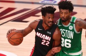 Jimmy Butler and Marcus Smart