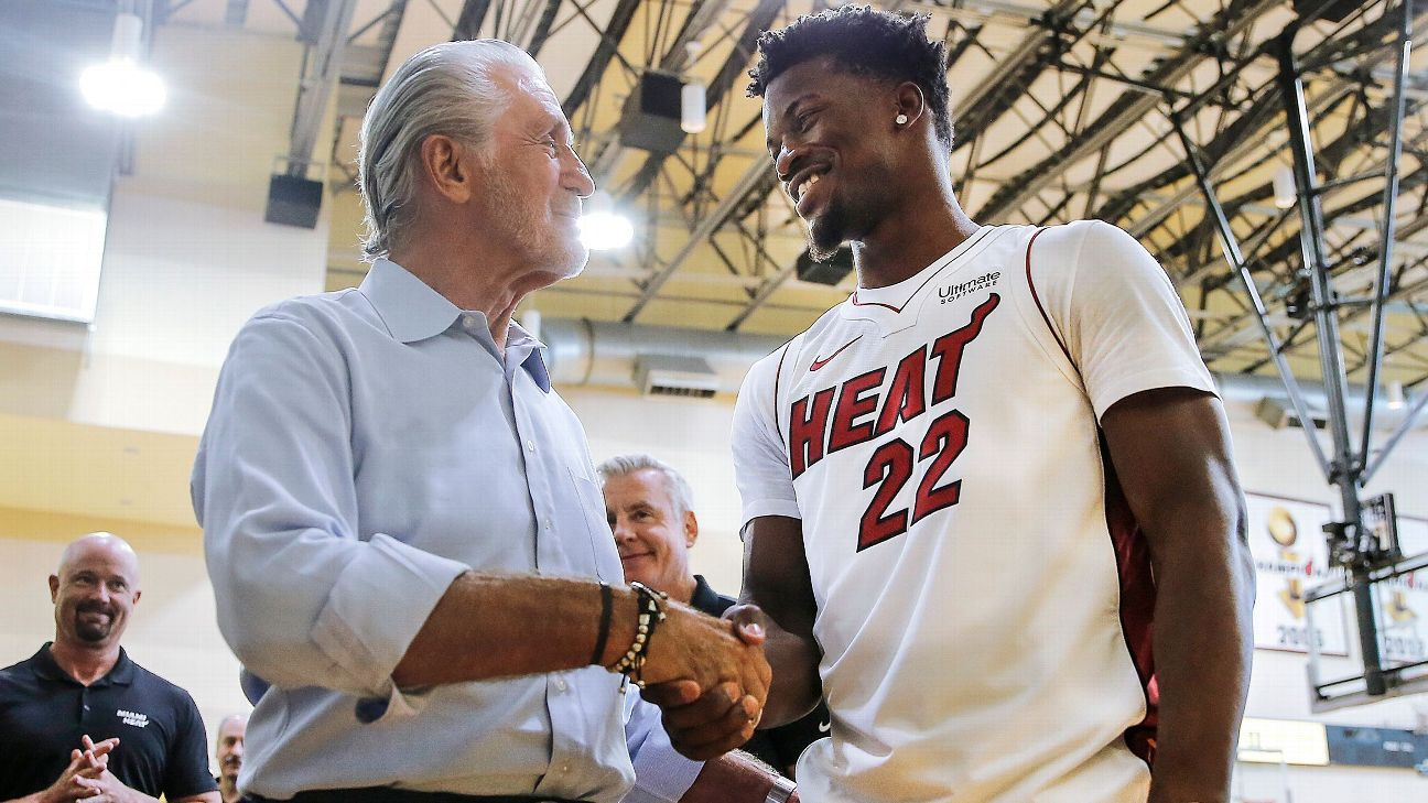 Pat Riley and Jimmy Butler